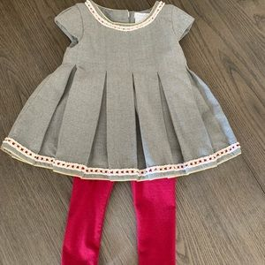 NWOT Tahari Baby girl dress with leggings